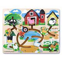 Розвивающая игрушка Melissa&Doug Лабиринт-пазл Ферма (MD4303)