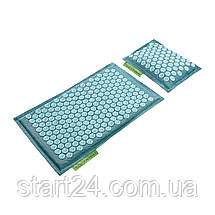 Коврик акупунктурный с подушкой 4FIZJO Eco Mat Аппликатор Кузнецова 68 x 42 см 4FJ0180 Turquoise, фото 2