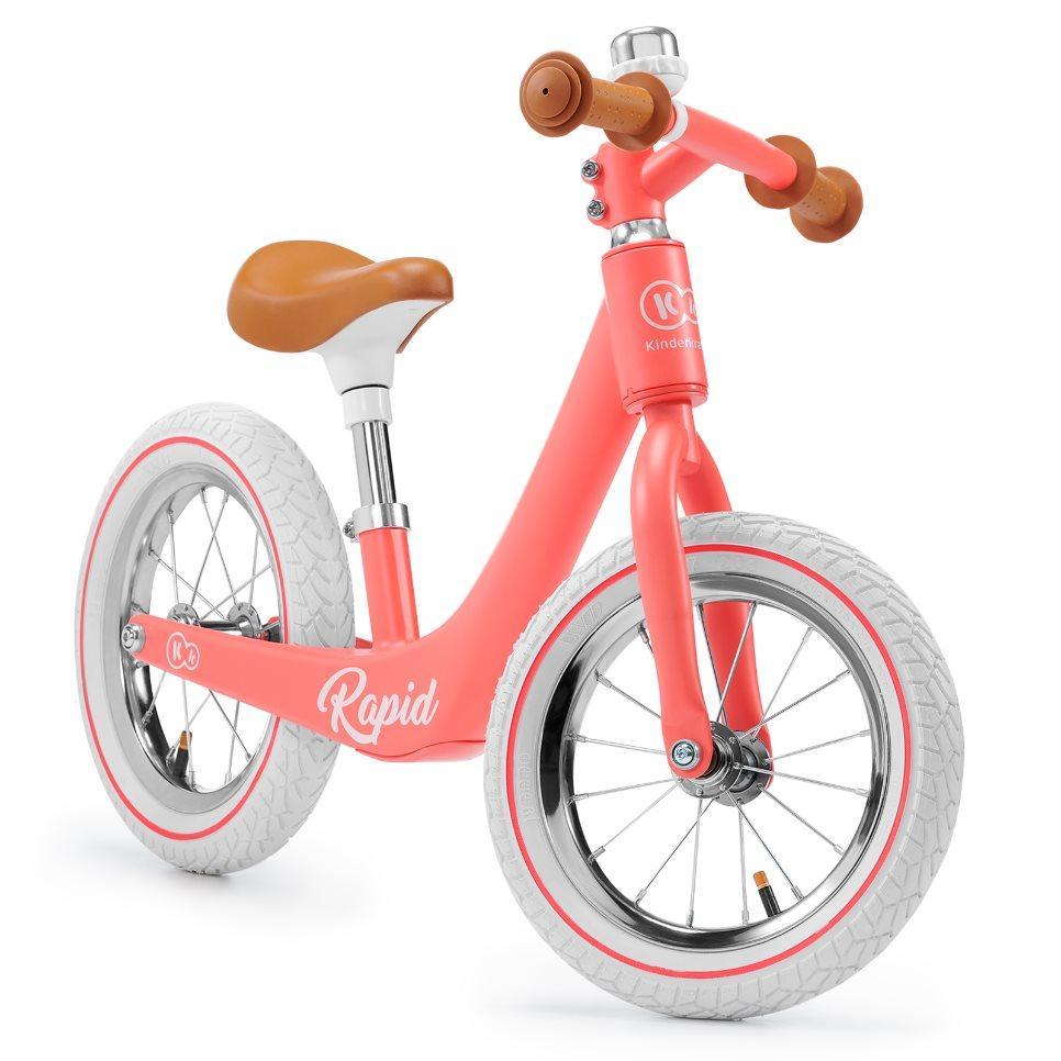 Детский велобег в ретро стиле Kinderkraft Rapid magic coral