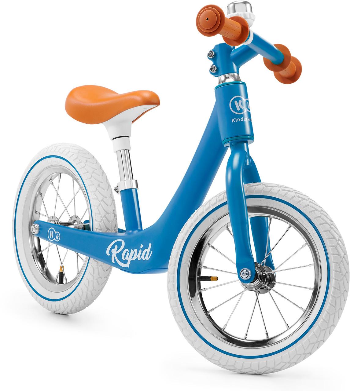 Детский велобег в ретро стиле Kinderkraft Rapid blue sapphire