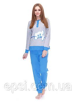Пижама Aniele 3350 M Меланж с голубым