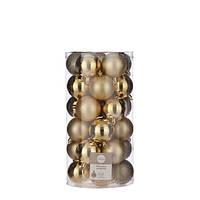 """Елочные шарики 30 шт, 6 см, """"House of Seasons"""" пластик, цвет золотой"""