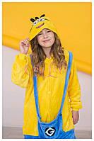 Оригинальные пижамы кигуруми Minions Миньоны для мальчиков и девочек все размеры в наличии