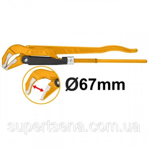 Трубний важільний ключ 67 мм INGCO HPW04023