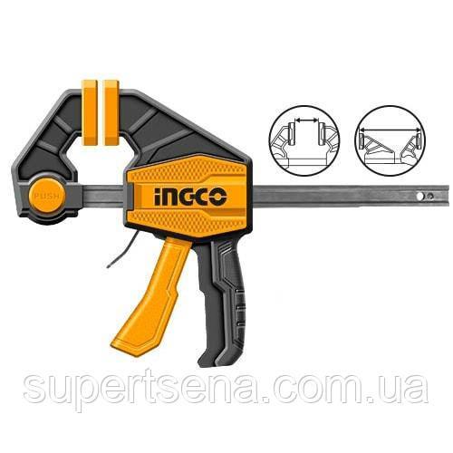 Швидкозатискний струбцина 63х450 мм INGCO HQBC01603 INDUSTRIAL