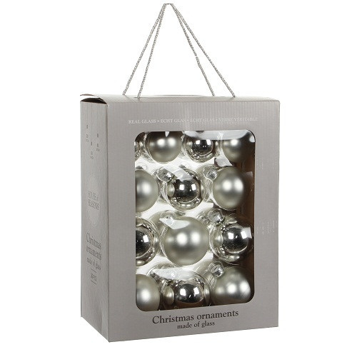 """Елочные шарики 26 шт., """"House of Seasons"""" комплект, цвет серый"""