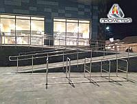 Перила/огорожі з подвійним поручнем пандусів для супермаркету з нержавіючої сталі AISI 304, фото 1