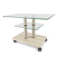 Стеклянный журнальный стол прямоугольный Commus Bravo Max P сс-pepel-2bg60, фото 1