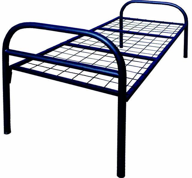 Кровать металлическая односпальная для общежитий
