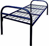 Кровать металлическая односпальная для общежитий КР014