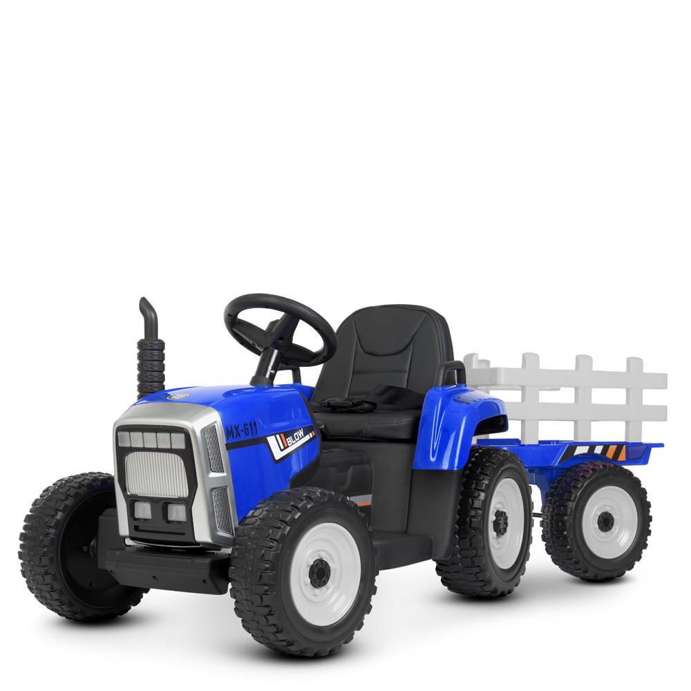 Детский электромобиль трактор M 4479 EBLR-4 с прицепом