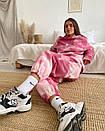Прінтованний жіночий брючний костюм на флісі з сободным свитшотом (р. 42-46) 40ks1498, фото 6