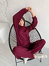 Женский ангоровый костюм в рубчик - штаны клеш и свободная кофта (р. 42-46) 17ks1501, фото 10