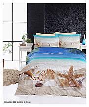 Комплект постельного белья сатин 3d First Choice евро  Ocean