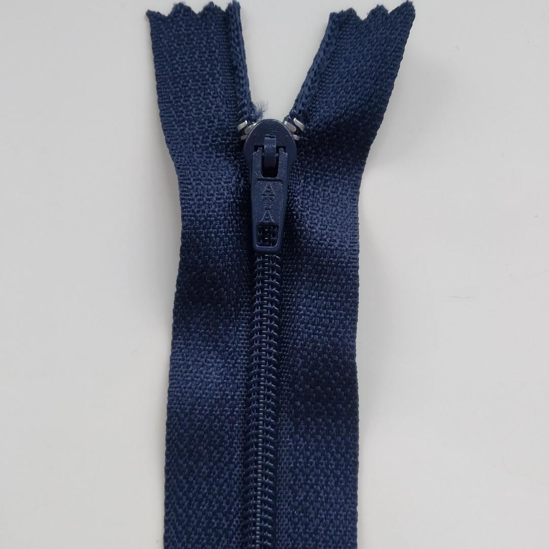 Блискавка для штанів тип Т4 18см синій