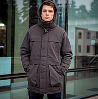 Куртка Парка зимняя мужская серая