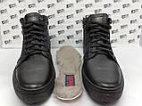 Зимние кожаные ботинки под кеды на цигейке на молнии Detta, фото 3