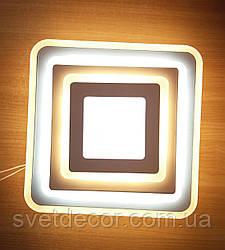 Настенный потолочный LED светильник 30W 1001В бра квадратный