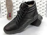 Зимние кожаные ботинки под кеды на цигейке на молнии Detta, фото 5