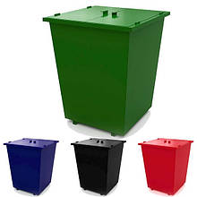 Мусорный бак для отходов с кришкой. Урна, мусорник, контейнер. Любой Цвет. 990х990х1210 мм