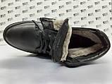Зимние кожаные ботинки под кеды на цигейке на молнии Detta, фото 7