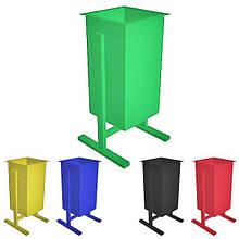 Урна антивандальная, мусорник, контейнер. Любой Цвет. 330х360х650 мм