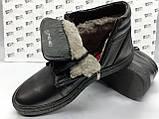 Зимние кожаные ботинки под кеды на цигейке на молнии Detta, фото 9