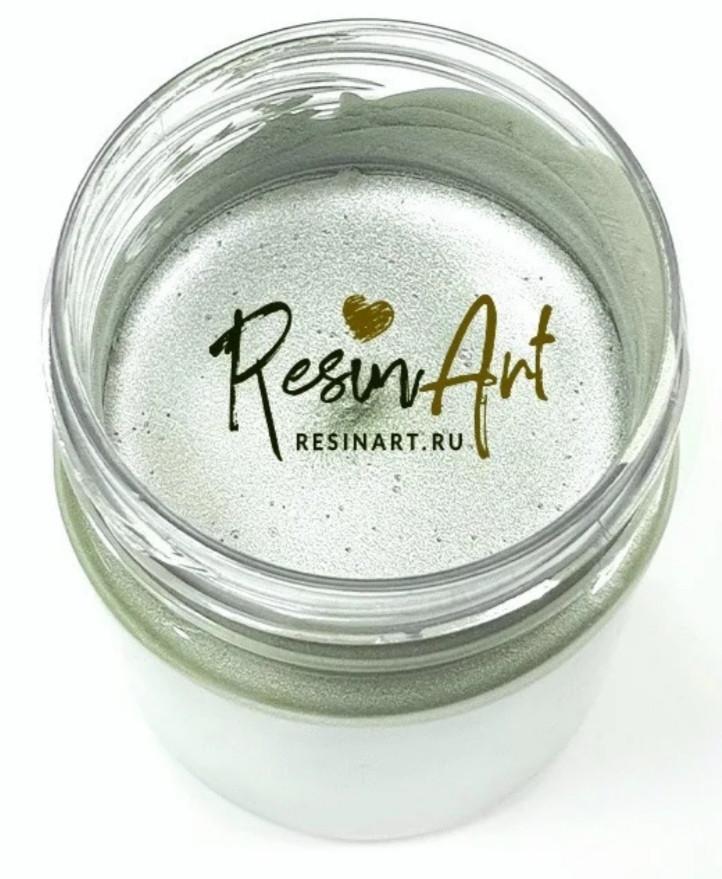"""Поталь жидкая быстросохнущая цвет """"Платина"""", Resin Art. Большая уп. 40 мл"""
