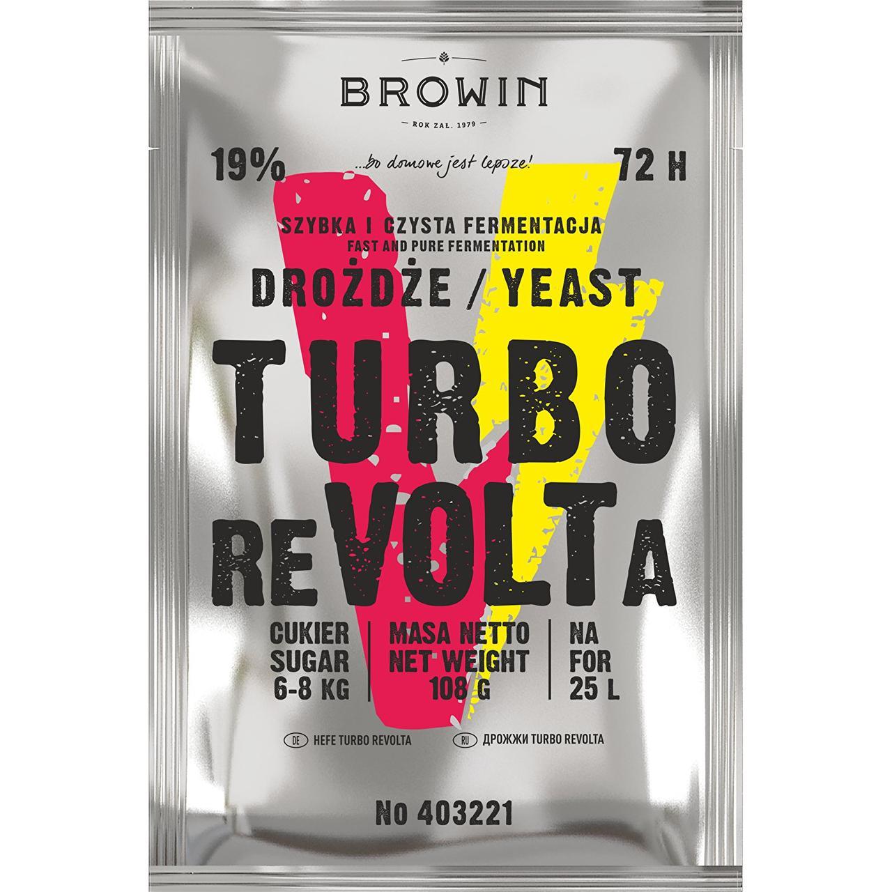 Дріжджі TURBO reVOLTa 72 години, BROWIN Польща