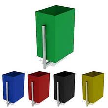 Урна антивандальная, мусорник, контейнер. Любой Цвет. 370х250х660 мм