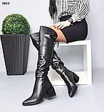 Деми и Зима! Стильные женские сапоги на каблуке ботфорты, фото 9