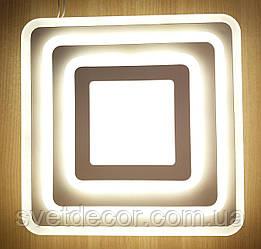 Настенный потолочный LED светильник 30W 1001С квадратный бра со сменой свечения