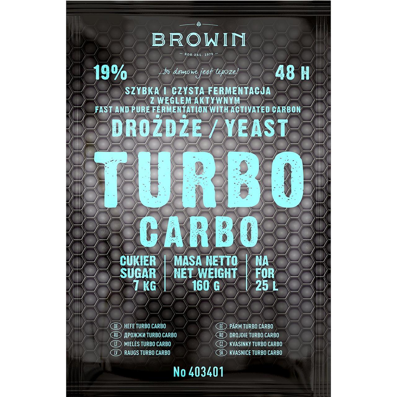 Дріжджі TURBO Carbo 48 годин, BROWIN Польща