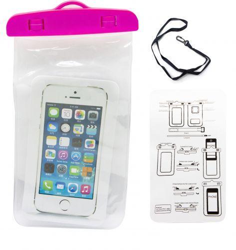 Водонепроницаемый чехол для телефона, розовый EL-1295