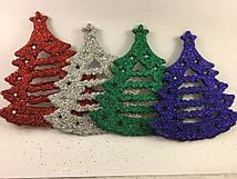 Новогодняя игрушка елка 4 цвета 9см
