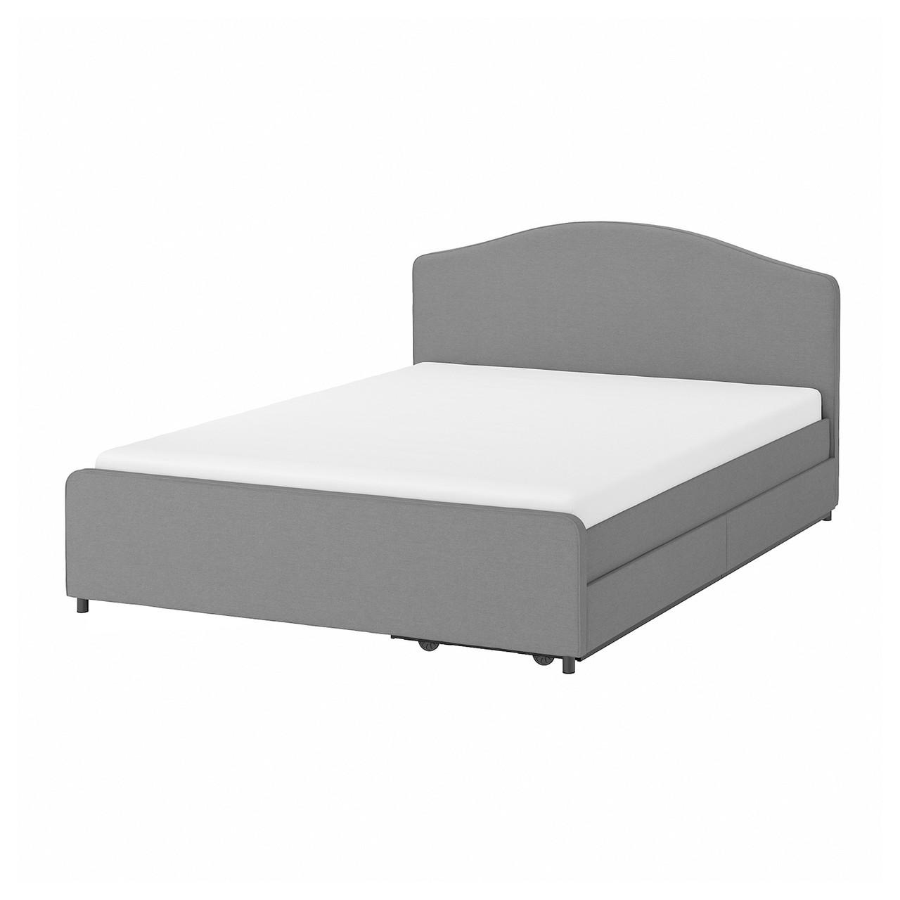 IKEA HAUGA Кровать мягкая, 2 а / м на пускай, Vissle  160x200 см