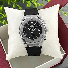 Часы Женские Hub**t Big Bang Small Classic Silver-Black Серебристые с черным,  Ремешок Каучук