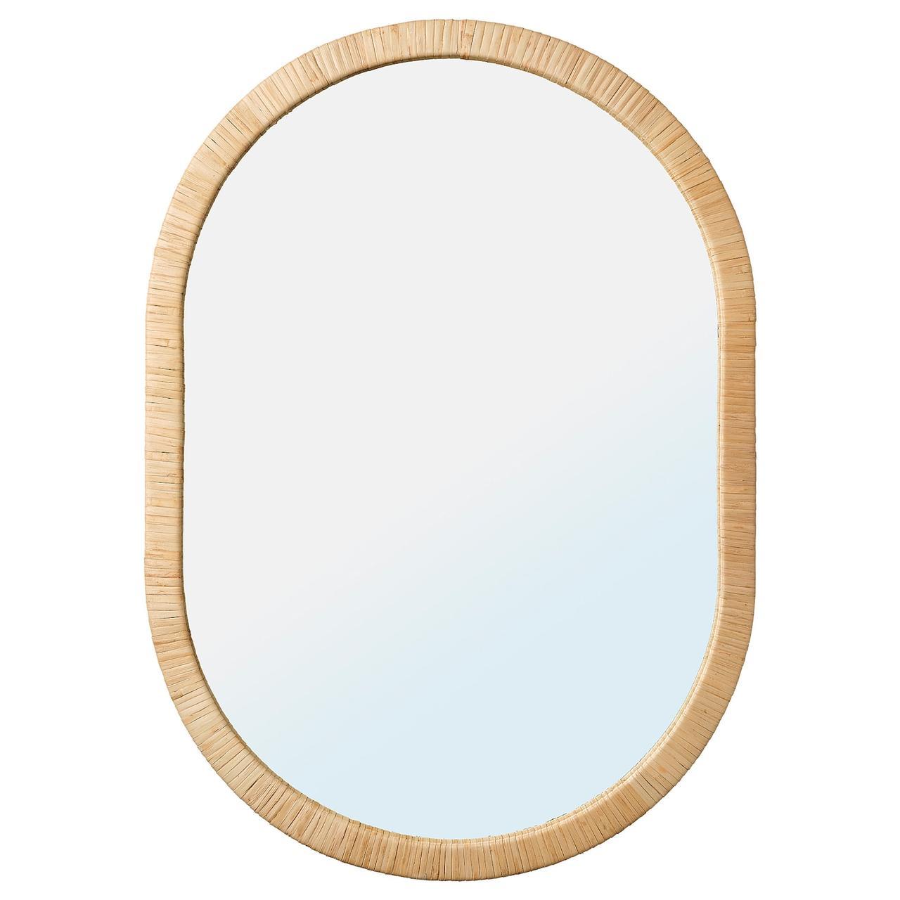IKEA OPPHEM Зеркало, ротанг 54x77 см