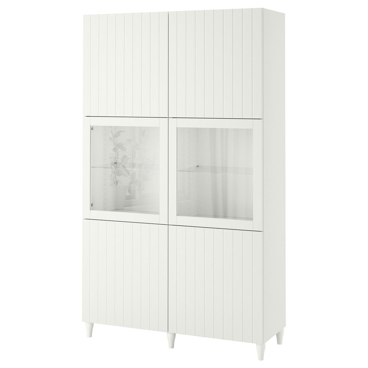 IKEA BESTÅ Стеллаж/стеклянная дверь 120x42x202 см