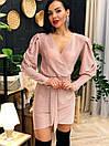 Люрексовое платье с имитацией запаха и рукавами фонариками ( р. S, M, L) 4plt1772, фото 6