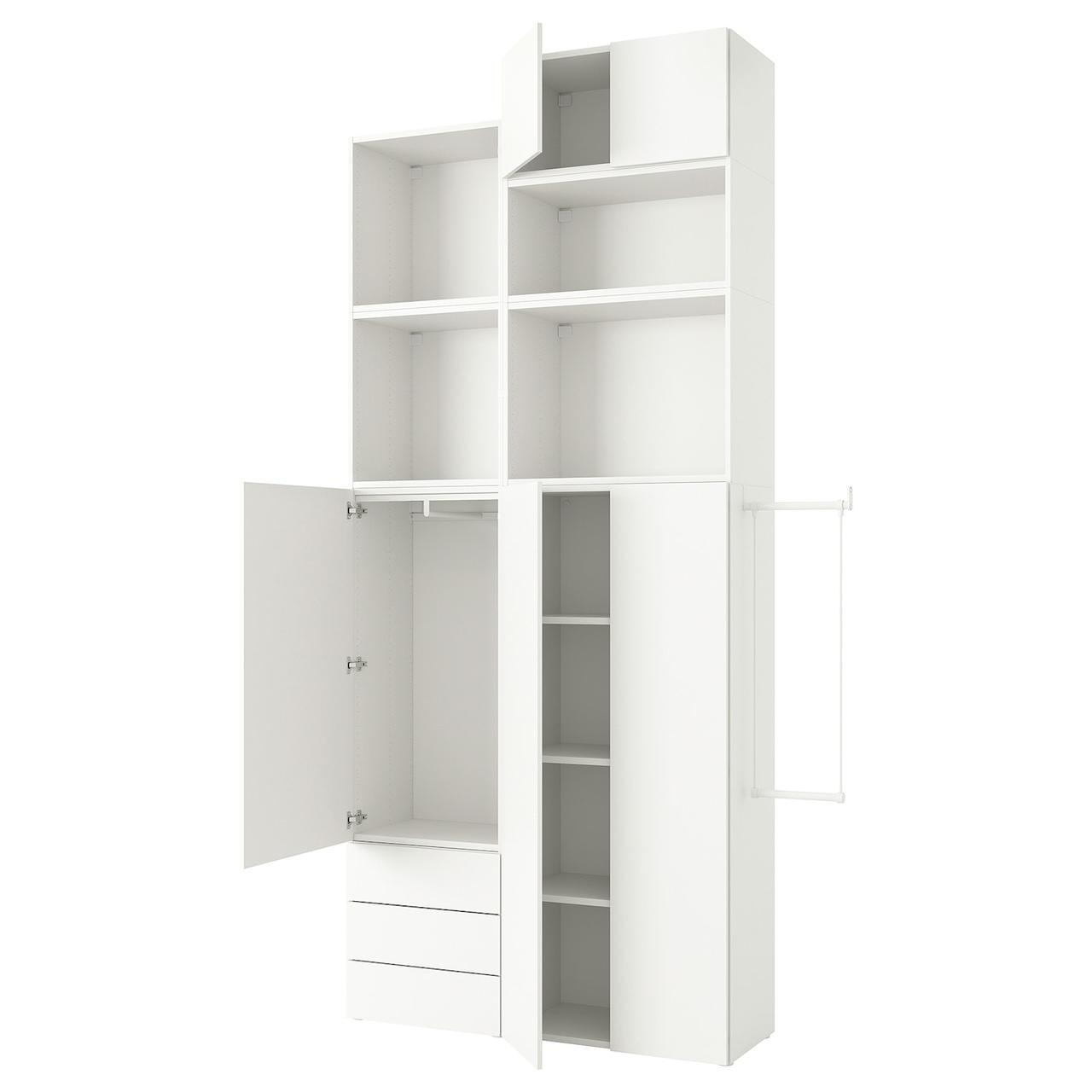 IKEA PLATSA Шкаф 5 дверей 3 ящика/Fonnes белый 175-205x42x321 см
