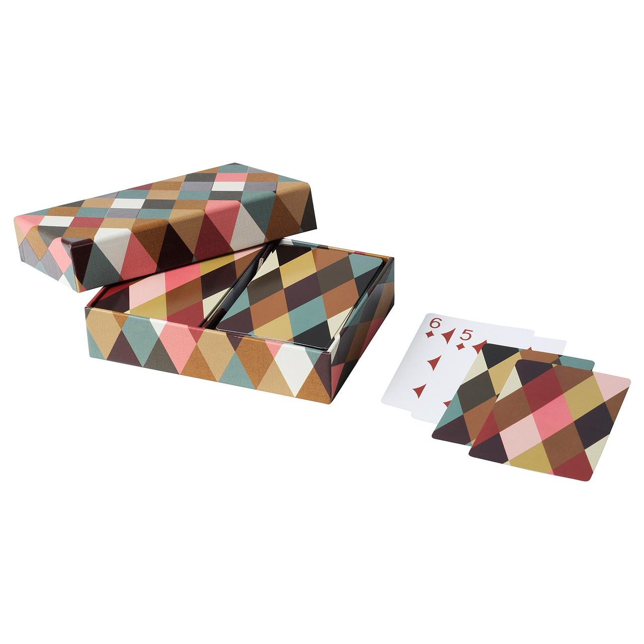 IKEA DEKORERA Карти для гри, шаблон алмазу