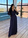 Шелковое длинное платье на запах с расклешенной юбкой (р. S-M) 66plt1785Q, фото 3