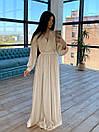 Шелковое длинное платье на запах с расклешенной юбкой (р. S-M) 66plt1785Q, фото 5