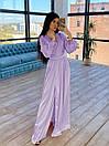 Шелковое длинное платье на запах с расклешенной юбкой (р. S-M) 66plt1785Q, фото 8