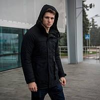 Куртка Парка зимняя мужская черная
