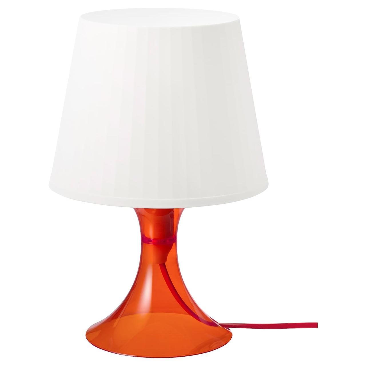 IKEA LAMPAN Настільна лампа, оранжевий/білий 29 см