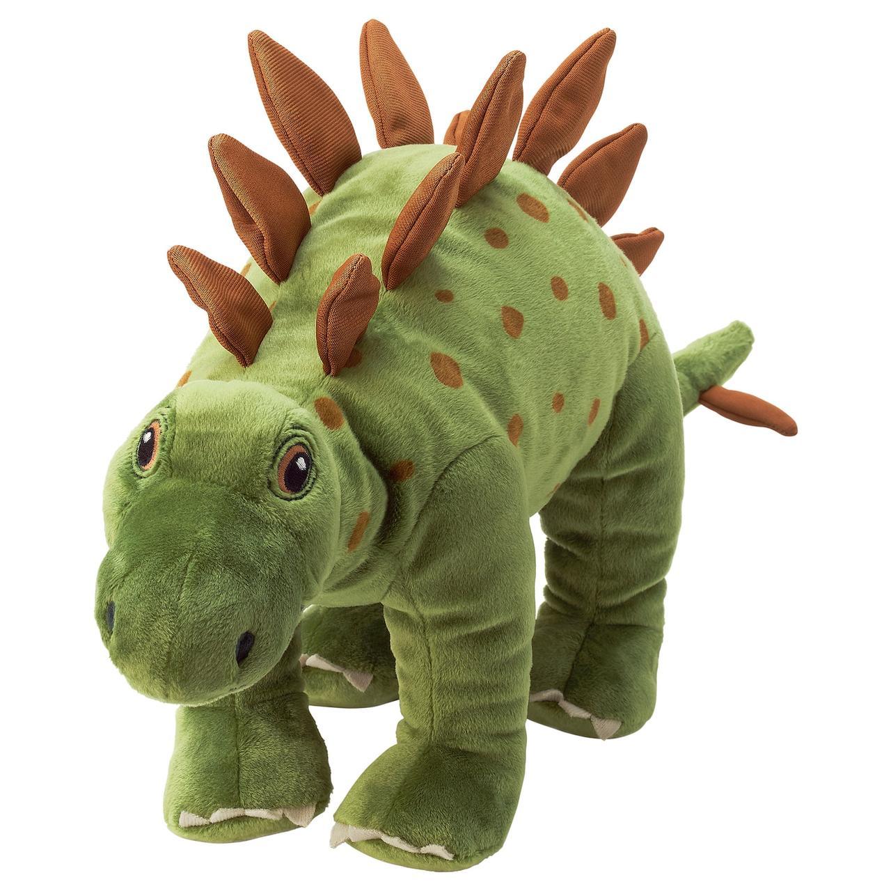 IKEA JÄTTELIK Мягкая игрушка, динозавр стегозавр 50 см