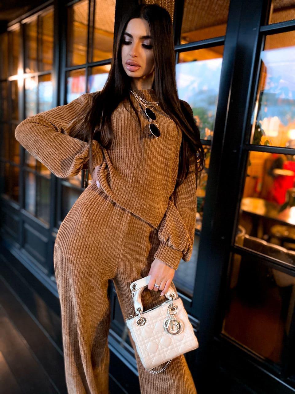 Женский прогулочный костюм с свободной кофтой и брюками (р. 42-46) 63kos1504