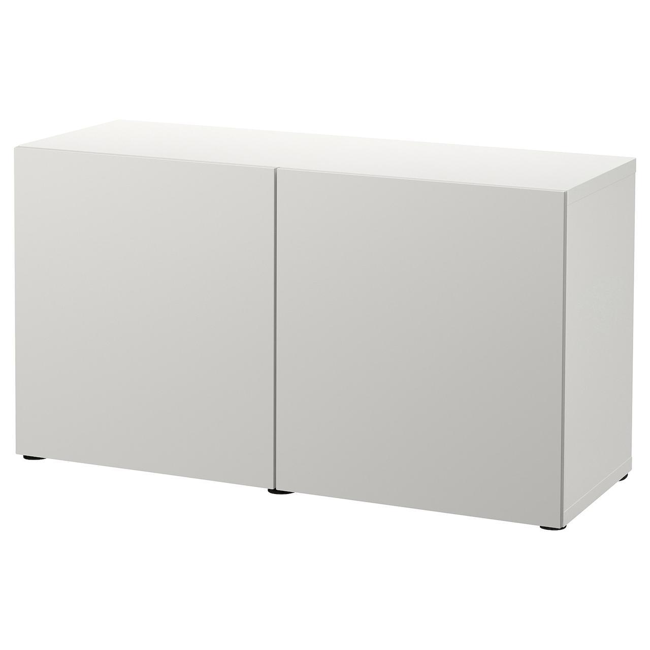 IKEA BESTÅ Комбінація з дверцятами білий/Lappviken світло - 120x42x65 см